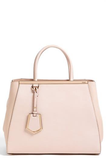 1beb3f6f44d Fendi  2Jours Elite  Leather Shopper - Pink In Black Cherry