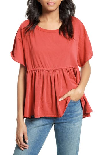 Women's Free People Odyssey Tee, Size X-Small - Red