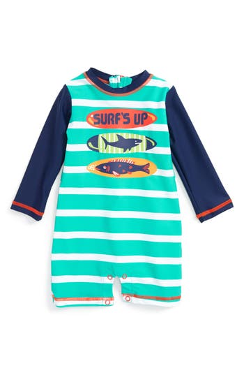 Infant Boy's Hatley Surfboards One-Piece Rashguard Swimsuit