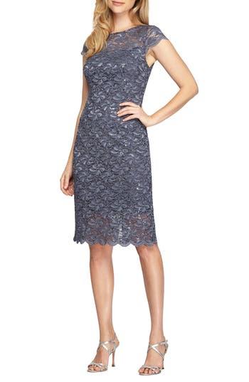 Women's Alex Evenings Lace Sheath Dress