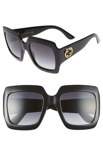 Women's Gucci 54Mm Square Sunglasses -
