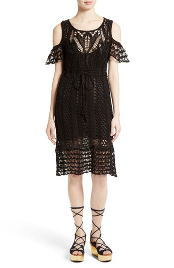See By Chloe Crochet Cold Shoulder Dress
