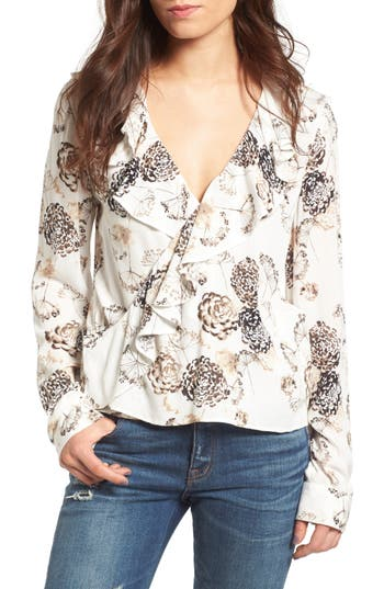 Women's Hinge Ruffle Top, Size Small - Ivory