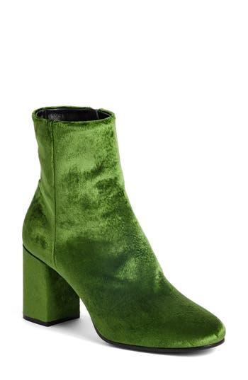 Balenciaga Block Heel Bootie - Green