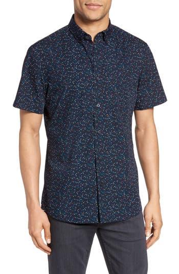 Men's Nordstrom Men's Shop Slim Fit Dot Print Sport Shirt