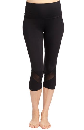 Rosie Pope Candace Crop Maternity Leggings, Black