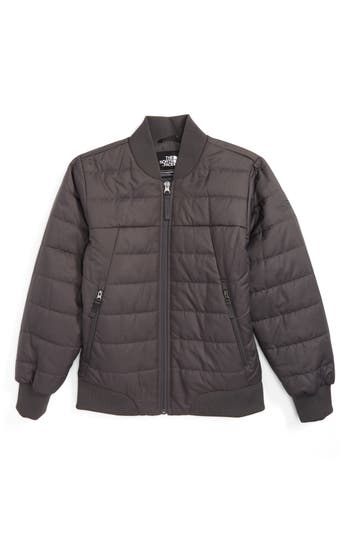 Boy's The North Face Bodenburg Quilted 550-Fill Down Insulated Bomber Jacket