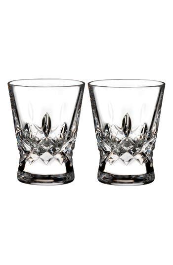 waterford lismore pops set of 2 lead crystal shot glasses