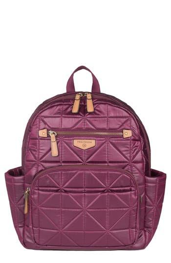Infant Girl's Twelvelittle 'Companion Backpack' Quilted Nylon Diaper Bag - Red