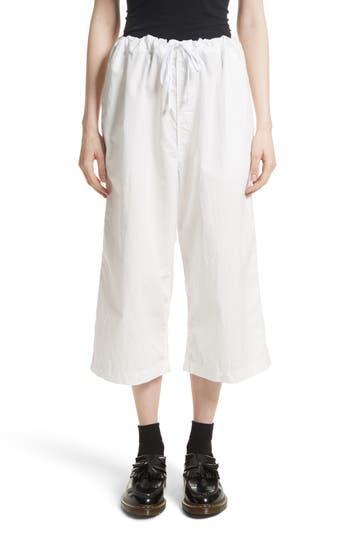 Women's Tricot Comme Des Garçons Washed Cotton Wide Leg Crop Pants