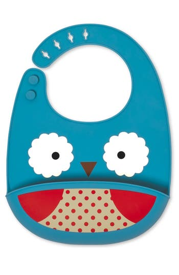 Infant Boy's Skip Hop 'Zoo' Fold & Go Bib, Size One Size - Blue