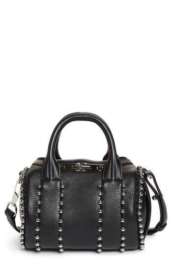 Alexander Wang Mini Rockie Studded Leather Crossbody Satchel - Black