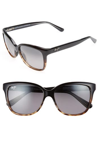 Maui Jim Starfish 5m Polarized Cat Eye Sunglasses - Black/ Tortoise