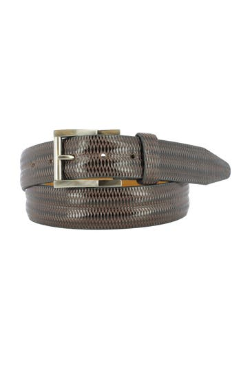 Remo Tulliani Lux Leather Belt, Brown