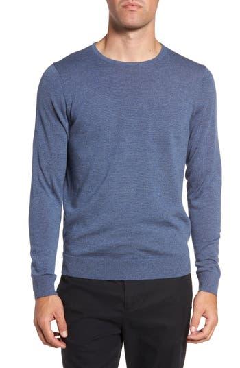 Big & Tall Nordstrom Shop Crewneck Merino Wool Sweater, Blue