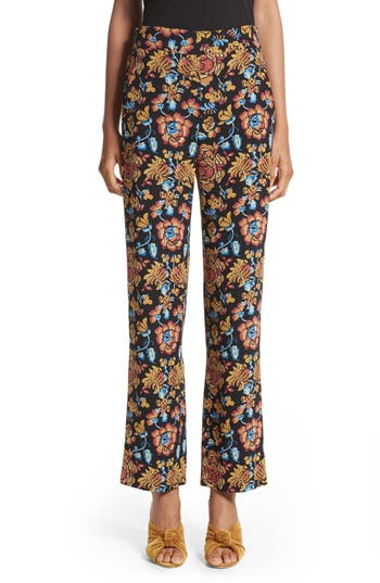 Women's Etro Floral Print Silk Pants