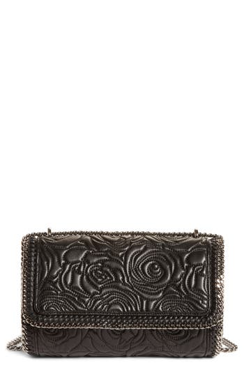 Stella Mccartney Quilted Flowers Faux Leather Crossbody Bag -