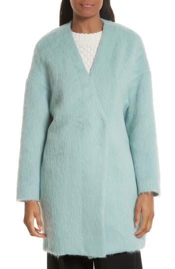 Women's Milly Helen Alpaca & Wool Coat, Size Petite - Blue