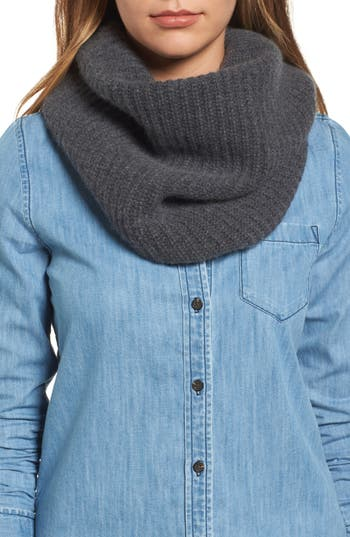 Women's Halogen Cashmere Snood, Size One Size - Grey