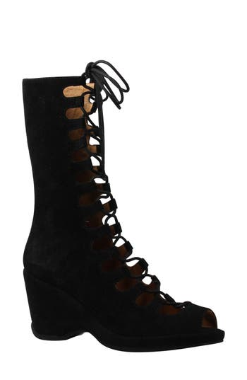 Women's L'Amour Des Pieds Othello Lace-Up Sandal, Size 6 M - Black