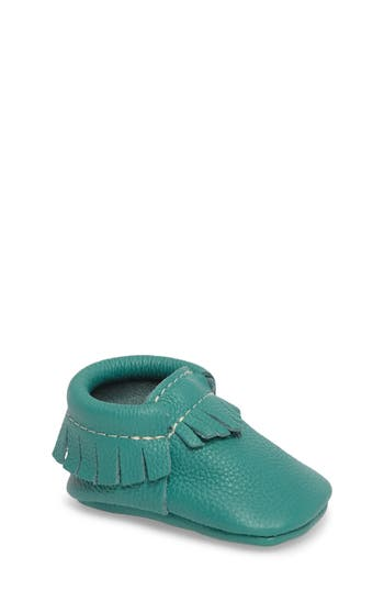 Infant Freshly Picked Classic Moccasin, Size 1 M - Green