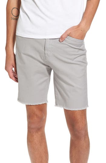Volcom Stone Made Atwell Cutoff Shorts, Grey