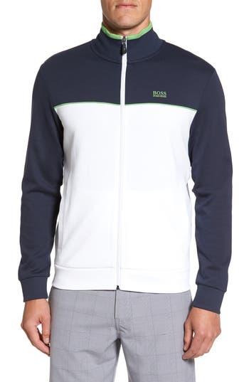 Boss Green Skaz Full Zip Fleece Jacket, White