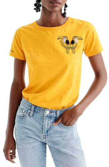 Women's J.crew Horoscope Tee, Size XX-Small - Yellow