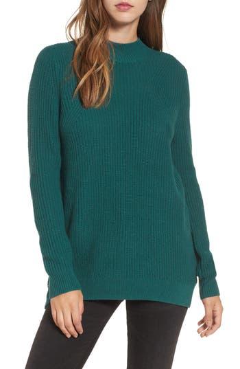 Women's Bp. Mock Neck Tunic Sweater, Size XX-Small - Green