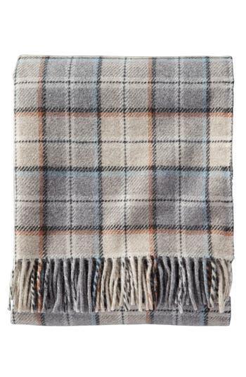 Pendleton Plaid Wool Throw, Size One Size - Beige
