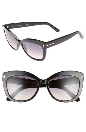Tom Ford Alistair 5m Gradient Sunglasses - Shiny Black / Gradient Smoke