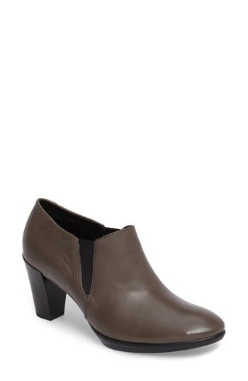 Ecco Shape 55 Plateau Stack Bootie, Grey