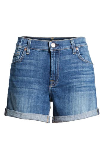 Women's 7 For All Mankind Relaxed High Rise Denim Shorts
