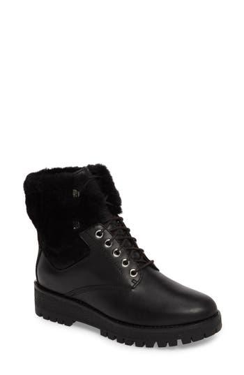 Michael Michael Kors Teddy Water Resistant Boot With Genuine Shearling Trim, Black