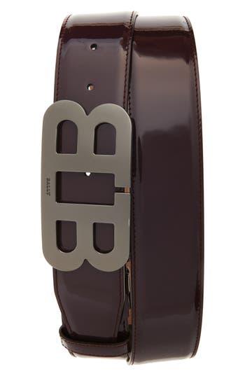 Men's Bally Mirror Buckle Leather Belt