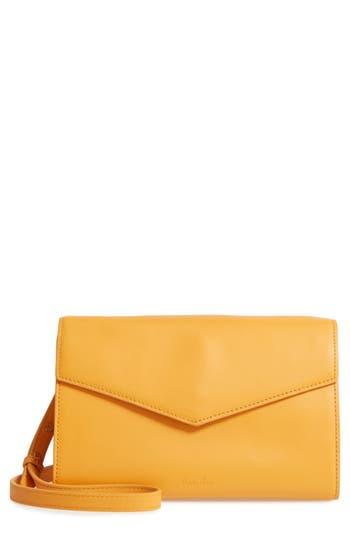 Steven Alan Easton Leather Envelope Crossbody Bag - Yellow