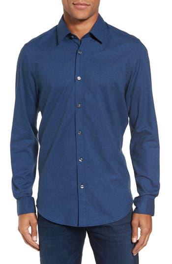 Men's Boss Lukas Regular Fit Microprint Flannel Sport Shirt