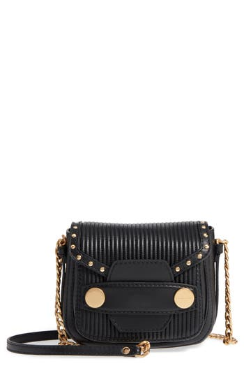 Stella Mccartney Quilted Faux Leather Crossbody Bag - Black