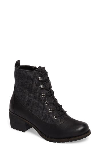 Aetrex Skyler Lace-Up Zip Bootie Black