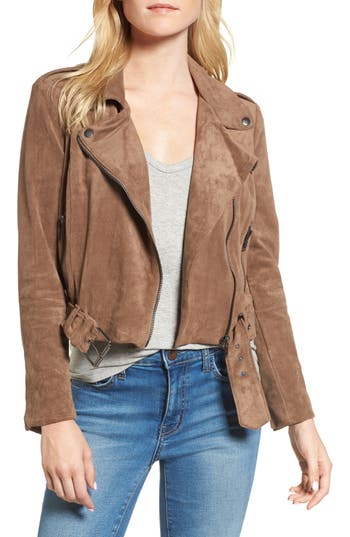 Women's Bb Dakota Waller Faux Suede Moto Jacket