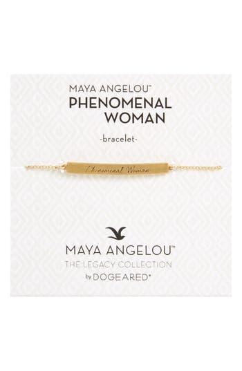 Dogeared LEGACY COLLECTION - PHENOMENAL WOMEN BAR BRACELET