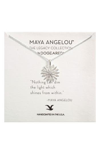 Women's Dogeared Starburst Charm Pendant Necklace