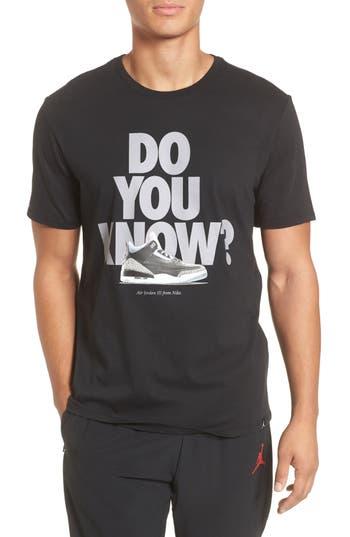 Nike Jordan Do You Know Graphic T-Shirt, Black