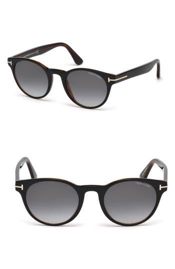 Men's Tom Ford Palmer 51Mm Sunglasses - Black/ Other / Gradient Smoke