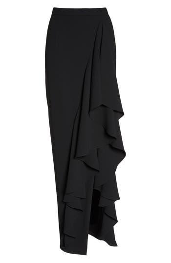 Women's Eliza J Ruffle Side Maxi Skirt