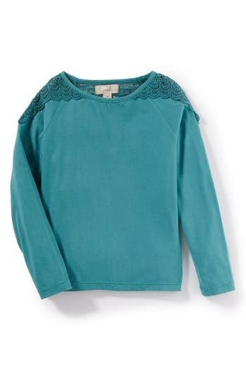Girl's Peek Tiffany Crochet Yoke Tee
