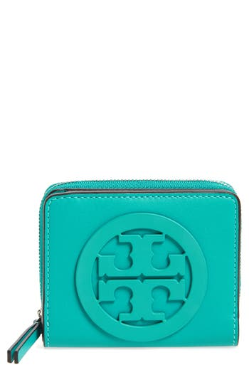 Women's Tory Burch Mini Charlie Leather Wallet - Green