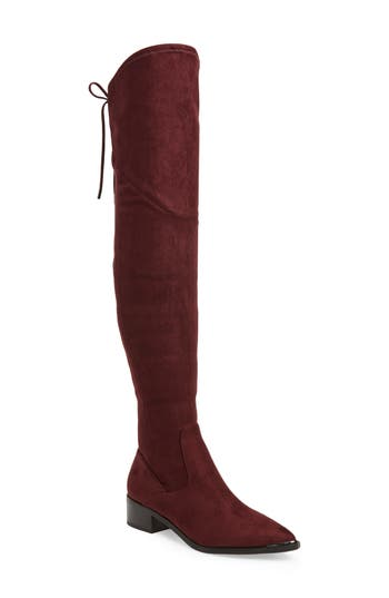 Marc Fisher Ltd. Yuna Over The Knee Boot- Red