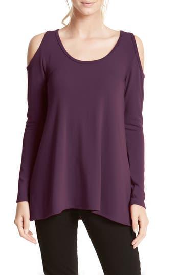 Women's Karen Kane High/low Cold Shoulder Sweater, Size X-Small - Purple