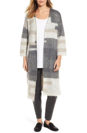 Women's Eileen Fisher Colorblock Long Cardigan